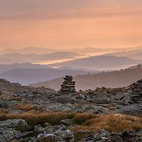 Summer sunrise from Mt Washington, NH.