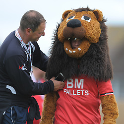 TELFORD COPYRIGHT MIKE SHERIDAN Kettering Town mascot (general view) during the National League North fixture between Kettering Town and AFC Telford United at Latimer Park on Saturday, August 3, 2019<br /> <br /> Picture credit: Mike Sheridan<br /> <br /> MS201920-005