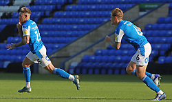 Sammie Szmodics of Peterborough United celebrates scoring his late winning goal - Mandatory by-line: Joe Dent/JMP - 19/09/2020 - FOOTBALL - Weston Homes Stadium - Peterborough, England - Peterborough United v Fleetwood Town - Sky Bet League One
