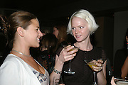 EMMA GROVE AND LAUREN BRYSON, The launch of ' Cooler, Faster, More Expensive, - the Return of the Sloane Ranger. By Peter York and Olivia Stewart-Liberty. Kitts. 7-12 Sloane sq. London. 15 October 2007. -DO NOT ARCHIVE-© Copyright Photograph by Dafydd Jones. 248 Clapham Rd. London SW9 0PZ. Tel 0207 820 0771. www.dafjones.com.