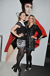 Left to right, AMBER ATHERTON and GRETA BELLAMACINA at the Vogue Festival Party 2013 in association with Vertu held at the Queen Elizabeth Hall, Southbank Centre, London SE1 on 27th April 2013.