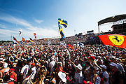 Hungarian Grand Prix 2013<br /> our best selection from Award winning Photographer Darren Heath.<br /> Crowd show there support<br /> ©Darren Heath/Exclusivepix