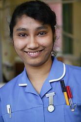 Portrait of staff nurse on the Robert Jones Endocrinology ward,