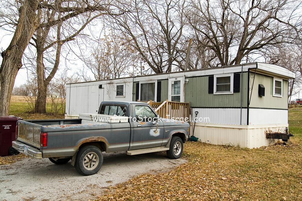 Nebraska NE USA, Trailer residence in Avoca, NE