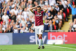 May 27, 2019 - London, England, United Kingdom - Anwar El Ghazi (22) of Aston Villa reacts after being tackled during the Sky Bet Championship match between Aston Villa and Derby County at Wembley Stadium, London on Monday 27th May 2019. (Credit: Jon Hobley | MI News) (Credit Image: © Mi News/NurPhoto via ZUMA Press)