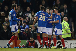 Goal, Marc McNulty of Portsmouth scores, Portsmouth 2-0 Ipswich Town - Mandatory byline: Jason Brown/JMP - 07966386802 - 19/01/2016 - FOOTBALL - Fratton Park - Portsmouth, England - Portsmouth v Ipswich Town - The Emirates FA Cup