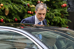 © Licensed to London News Pictures. 10/12/2018. London, UK. Julian Smith - Parliamentary Secretary to the Treasury (Chief Whip) departs from No 1o Downing Street. Photo credit: Dinendra Haria/LNP
