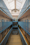 The newly refurbished cell interior  of C wing. HMP YOI Winchester was built in 1846 and is typical of the Victorian prison, radial design. It is currently a Category B Local prison that serves the local courts, has an operational capacity of 690 and is able to take men from the age of 18 upwards.  HMP Winchester, Hampshire, United Kingdom. (All image use MUST be credited © prisonimage.org)