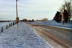1976-1977 winter at Heyworth Illinois & Vicinity.<br /> Rt. 51 near Randolph<br /> <br /> Archive slide, negative and print scans.