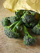 Fresh whole Broccoli spears