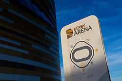 General view of Pride Park and Derby Velodrome, as both are closed during the Coronavirus, COVID-19, pandemic  - Mandatory by-line: Robbie Stephenson/JMP - 23/03/2020 - FOOTBALL - Pride Park Stadium - Derby, England - Pride Park GVs