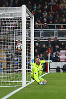 Football - 2017 / 2018 FA Cup - Third Round : AFC Bournemouth vs. Wigan Athletic<br /> <br /> Bournemouth's Artur Boruc can only watch as a deflected free kick loops into the net at Dean Court (Vitality Stadium) Bournemouth <br /> <br /> COLORSPORT/SHAUN BOGGUST