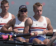 St Catharines, Ontario, CANADA 1999 World Rowing Championships. GBR M8+ left, Tim Foster and Steve Trapmore. [Mandatory Credit Peter Spurrier Intersport Images] 1999 FISA. World Rowing Championships, St Catherines, CANADA