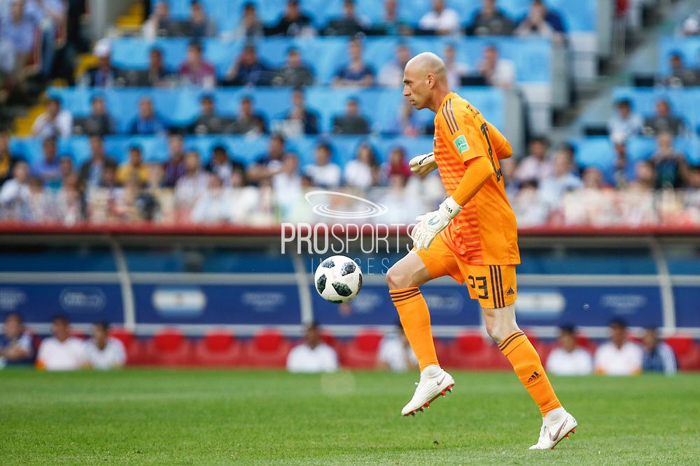 Wilfredo Caballero of Argentina during the 2018 FIFA World Cup Russia, Group D football match between Argentina and Iceland on June 16, 2018 at Spartak Stadium in Moscow, Russia - Photo Thiago Bernardes / FramePhoto / ProSportsImages / DPPI