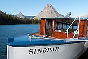 Two Medicine Lake, boat launch, Sinopah Mountain (8271 feet or 2521 meters), Glacier National Park, Montana, USA