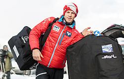 03.01.2016, Bergisel Schanze, Innsbruck, AUT, FIS Weltcup Ski Sprung, Vierschanzentournee, Probedurchgang, im Bild Michael Hayboeck (AUT) // Michael Hayboeck of Austria during his Trial Jump for the Four Hills Tournament of FIS Ski Jumping World Cup at the Bergisel Schanze, Innsbruck, Austria on 2016/01/03. EXPA Pictures © 2016, PhotoCredit: EXPA/ JFK