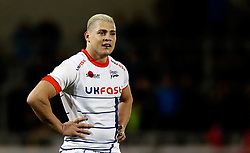 Sale Sharks' James O'Connor in action against Toulouse, during the European Challenge Cup pool two match at the AJ Bell Stadium, Sale. PRESS ASSOCIATION Photo. Picture date: Friday October 13, 2017. See PA story RUGBYU Sale. Photo credit should read: Martin Rickett/PA Wire.
