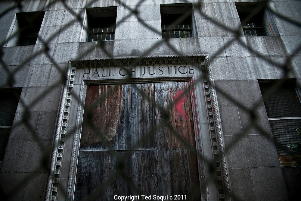 The Hall of Justice located in downtown LA.