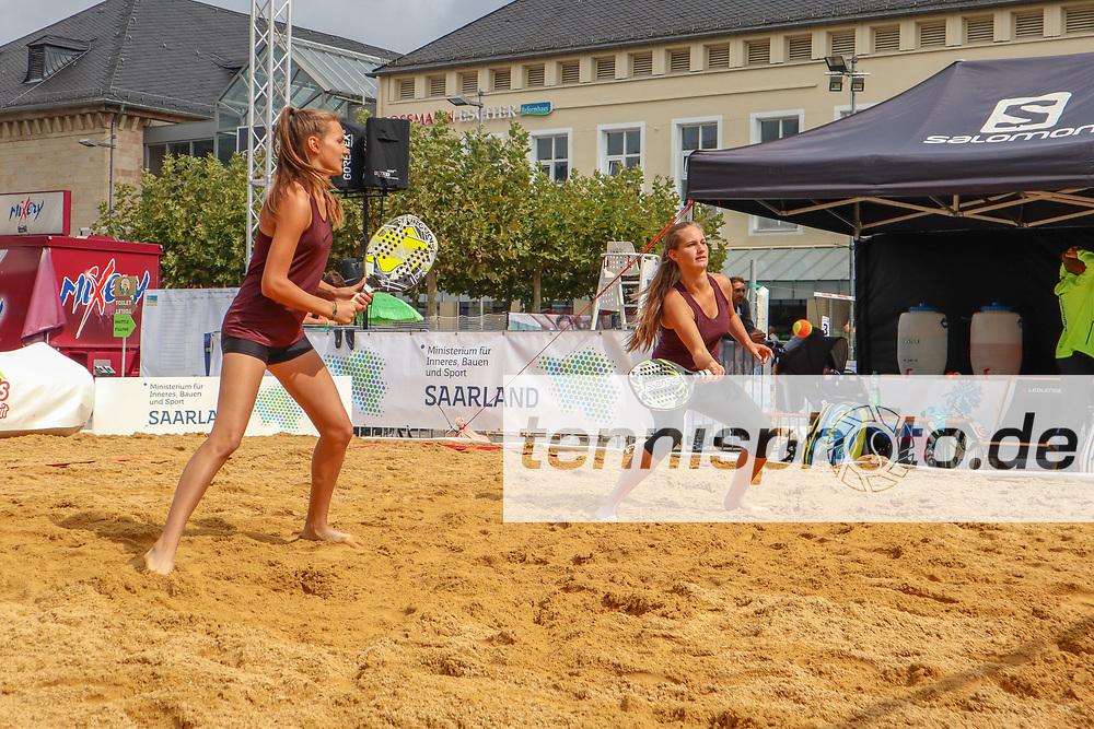 Johanna und Roxanne Bohdjalian, Deutsche Meisterschaften Beach-Tennis, Saarlouis, 24.08.2018, Foto: Claudio Gärtner