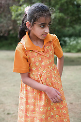 Young girl with learning disabilities,