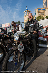 Scott Blaylock of Canada on his 1910 Indian single cylinder during the Motorcycle Cannonball Race of the Century. Stage-1 from Atlantic City, NJ to York, PA. USA. Saturday September 10, 2016. Photography ©2016 Michael Lichter.
