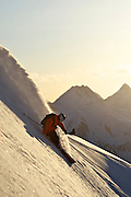 A skier near valdez Alaska. MR
