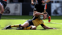 Josh Adams of Worcester Warriors scores a try - Mandatory by-line: Robbie Stephenson/JMP - 30/07/2016 - RUGBY - Kingston Park - Newcastle, England - Worcester Warriors v Newcastle Falcons - Singha Premiership 7s