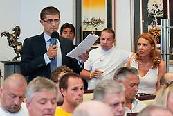 Matjaz Rakovec na skupscini Hokejske zveze Slovenije, on September 7, 2011, in Ljubljana, Slovenia. (Photo by Matic Klansek Velej / Sportida)