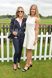 Left to right, JULIET HERD and her daughter  ELLIE at the Cartier Queen's Cup Polo final at Guard's Polo Club, Smiths Lawn, Windsor Great Park, Egham, Surrey on 14th June 2015