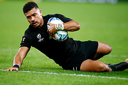 Richie Mo'unga of New Zealand (All Blacks) over for a try during the Bronze Final match between New Zealand and Wales Mandatory by-line: Steve Haag Sports/JMPUK - 01/11/2019 - RUGBY - Tokyo Stadium - Tokyo, Japan - New Zealand v Wales - Bronze Final - Rugby World Cup Japan 2019