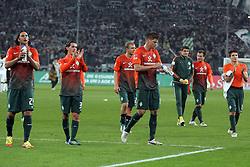 19.11.2011, BorussiaPark, Mönchengladbach, GER, 1.FBL, Borussia Mönchengladbach vs SV Werder Bremen, im BildBremer Spieler entaeuscht/ entäuscht/ traurig nach dem 5:0 in Mönchengladbach // during the 1.FBL, Borussia Mönchengladbach vs Werder Bremen on 2011/11/19, BorussiaPark, Mönchengladbach, Germany. EXPA Pictures © 2011, PhotoCredit: EXPA/ nph/ Mueller..***** ATTENTION - OUT OF GER, CRO *****