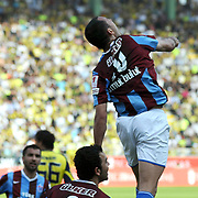 Trabzonspor's Umut BULUT celebrate his goal during their Turkey Cup final match Trabzonspor between Fenerbahce at the GAP Arena Stadium at Urfa Turkey on wednesday, 05 May 2010. Photo by TURKPIX