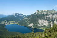 View across Altausee to Loser (right) and Sandling (left), from the trail to Trisselwand, Ausseerland, Salzkammergut, Austria © Rudolf Abraham