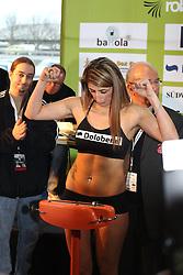 11.01.2013, Mercedes-Benz, Neu-Ulm, GER, Boxen WIBA, Rola el Halabi vs Lucia Morelli, Wiegen, im Bild Rola EL-HALABI schaut auf die Waage // during WIBA Boxing Fight between Rola el Halabi and Lucia Morelli at Mercedes-Benz, Neu-Ulm, Germany on 2012/01/11. EXPA Pictures © 2013, PhotoCredit: EXPA/ Eibner/ Harry Langer..***** ATTENTION - OUT OF GER *****