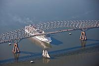 Baltimore's Pride and Carnival Pride Cruise Ship under Key Bridge