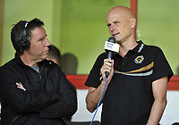 Football Pre-season friendly Walsall Vs Wolves<br />Manager Stale Solbakken gives a radio interview to BBC`s Mark Regan