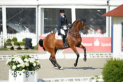 jRaine Kathleen, (USA), Breanna <br /> Grand Prix<br /> CDIO Hagen 2015<br /> © Hippo Foto - Stefan Lafrentz<br /> 09/07/15