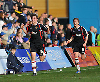 Photo: Tony Oudot/Richard Lane Photography. Gillingham v Shrewsbury Town. Coca-Cola Football League Two. 28/02/2009. <br /> GOAL! Grant Holt of Shrewsbury celebrates his last minute equaliser with team mate Terry Dunfield