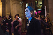 JAMIE HAYDEN;, Ball at to celebrateBlanche Howard's 21st and  George   Howard's 30th  birthday. Dress code: Black Tie with a touch of Surrealism. Castle Howard. Yorkshire. 14 November 2015