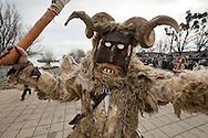 Busó carnival, Mohács, Hungary. The Busó carnival or Busójárás is inscribed on the Unesco list of Intangible Cultural Heritage. © Rudolf Abraham