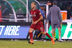 July 25, 2018 - East Rutherford, NJ, U.S. - EAST RUTHERFORD, NJ - JULY 25:  Liverpool defender Ragnar Klavan (17) enters the field  during the second half of the International Champions Cup Soccer game between Liverpool and Manchester City on July 25, 2018 at Met Life Stadium in East Rutherford, NJ.  (Photo by Rich Graessle/Icon Sportswire) (Credit Image: © Rich Graessle/Icon SMI via ZUMA Press)