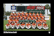 2003 Miami Hurricanes Baseball Team Photo
