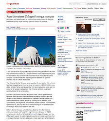 From The Guardian; Mosque in Cologne, Germany