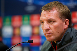 21.10.2014, Anfild, Liverpool, ESP, UEFA CL, FC Liverpool vs Real Madrid, Gruppe B, Pressekonferenz FC Liverpool, im Bild Liverpool's manager Brendan Rodgers // during a press conference of Liverpool FC ahead of the UEFA Champions League Group B match between Liverpool FC and Real Madrid CF at Anfild in Liverpool, Great Britain on 2014/10/21. EXPA Pictures © 2014, PhotoCredit: EXPA/ Propagandaphoto/ David Rawcliffe<br /> <br /> *****ATTENTION - OUT of ENG, GBR*****