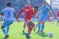 Jacob Brown of Barnsley (33) in action during the EFL Sky Bet League 1 match between Barnsley and Coventry City at Oakwell, Barnsley, England on 30 March 2019.