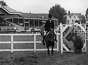 "07/08/1980<br /> 08/07/1980<br /> 07 August 1980<br /> R.D.S. Horse Show: John Player Top Score Competition, Ballsbridge, Dublin. Paul Darragh on ""P.J. Carroll""."