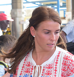 EXCLUSIVE: *NO WEB UNTIL 1200PM BST MAY 23* Wayne and Coleen Rooney and family arrives at Grantley Adams International airport in Barbados. One of the couple's sons is spotted with a red eye as Coleen pushed him in a stroller. 17 May 2018 Pictured: Coleen Rooney and Wayne Rooney. Photo credit: MEGA TheMegaAgency.com +1 888 505 6342