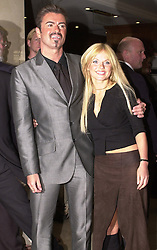 File photo dated 19/04/2000 of George Michael and Geri Halliwell arriving for the 95.8 Capital FM London Awards in London, as the pop superstar has died peacefully at home, his publicist said.