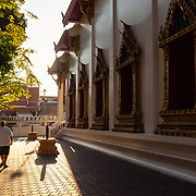 Temple in afternoon light in Thon Buri, Bangkok
