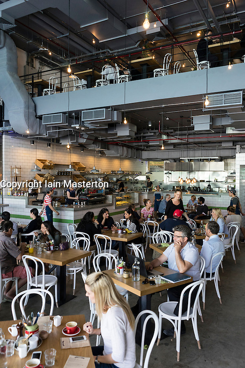 Interior of new tom and Serg cafe in Al Quoz district in Dubai United Arab Emirates